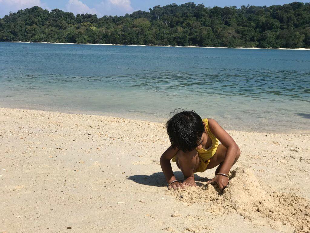 Enjoying at the Sea Beach during Island Hopping